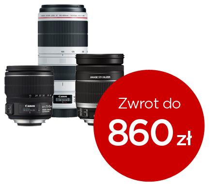 Cashback za zakup obiektywów i akcesoria gratis do aparatów @ Canon