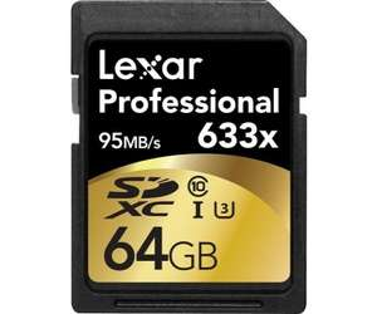 Lexar 64GB 633x Professional SDXC UHS-1 U3 @x kom