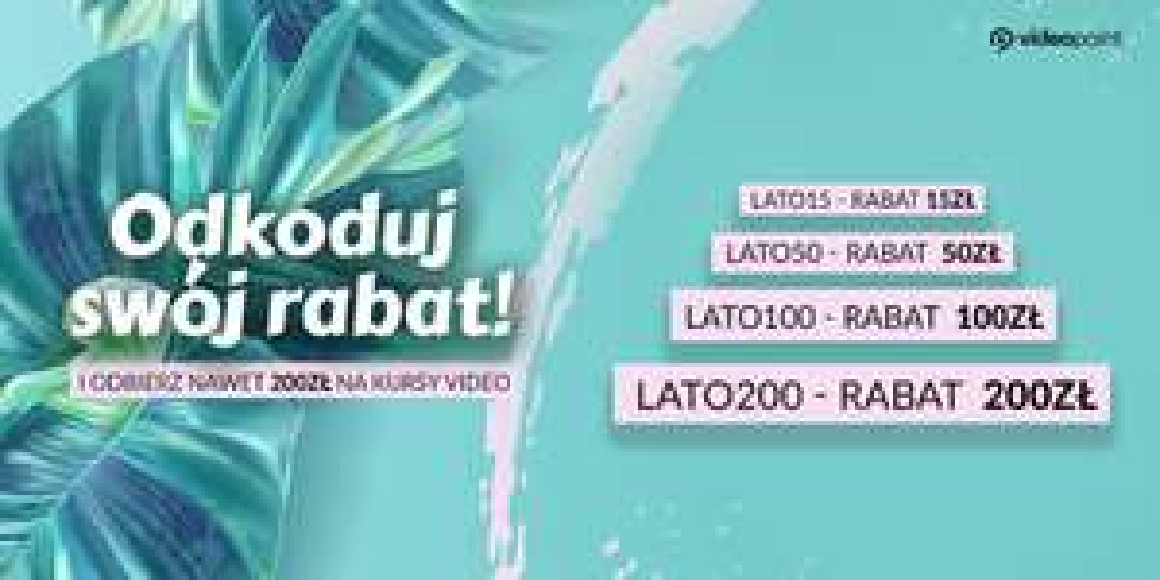 Promocja na kursy internetowe na Videopoint.pl [zniżka od 15 do 200 zł]