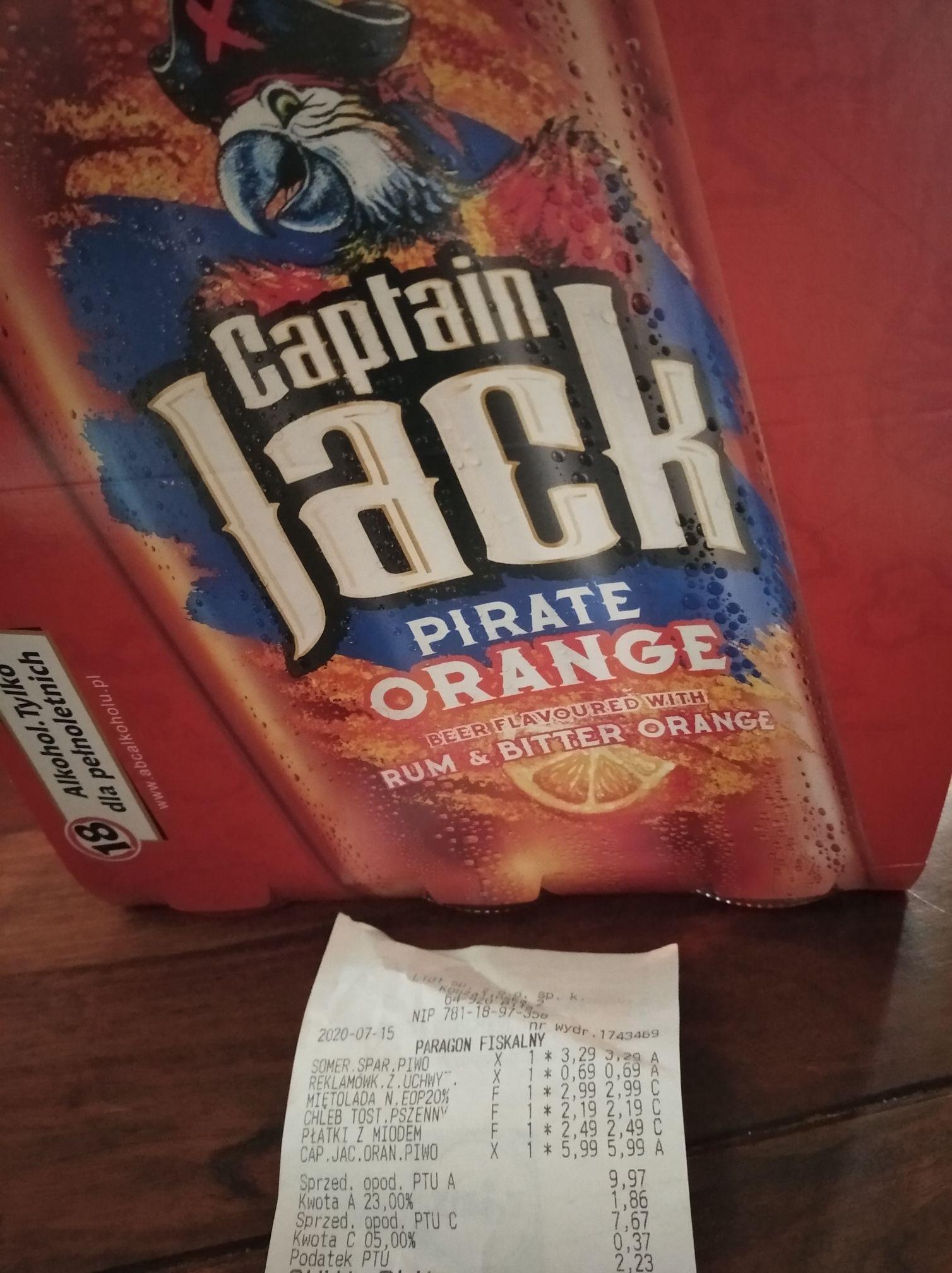 Captain Jack Pirate Orange 3x400ml za 6zł