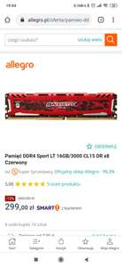 Crucial Balistix Sport LT Red 16GB/3000 CL15