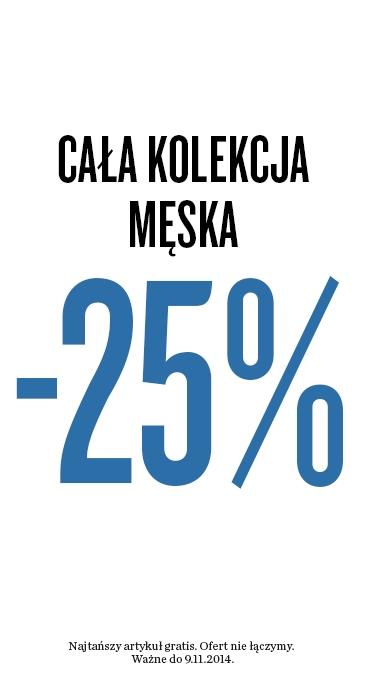 25% zniżki na całą kolekcję męską @ KappAhl