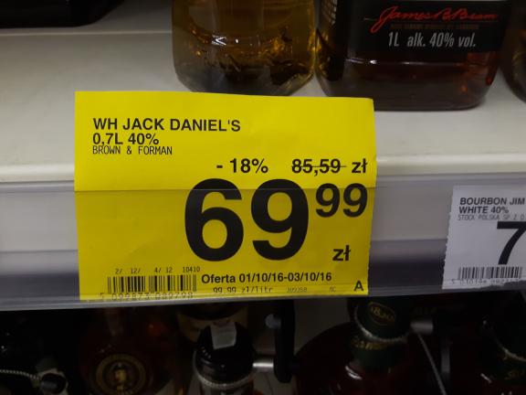 okazja. jack daniels w Carrefour