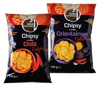Chipsy faliste Chilli & Orientalne 150 g (Biedronka)