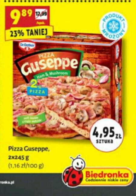 Pizza Guseppe 2pack za 9.89zł BIEDRONKA