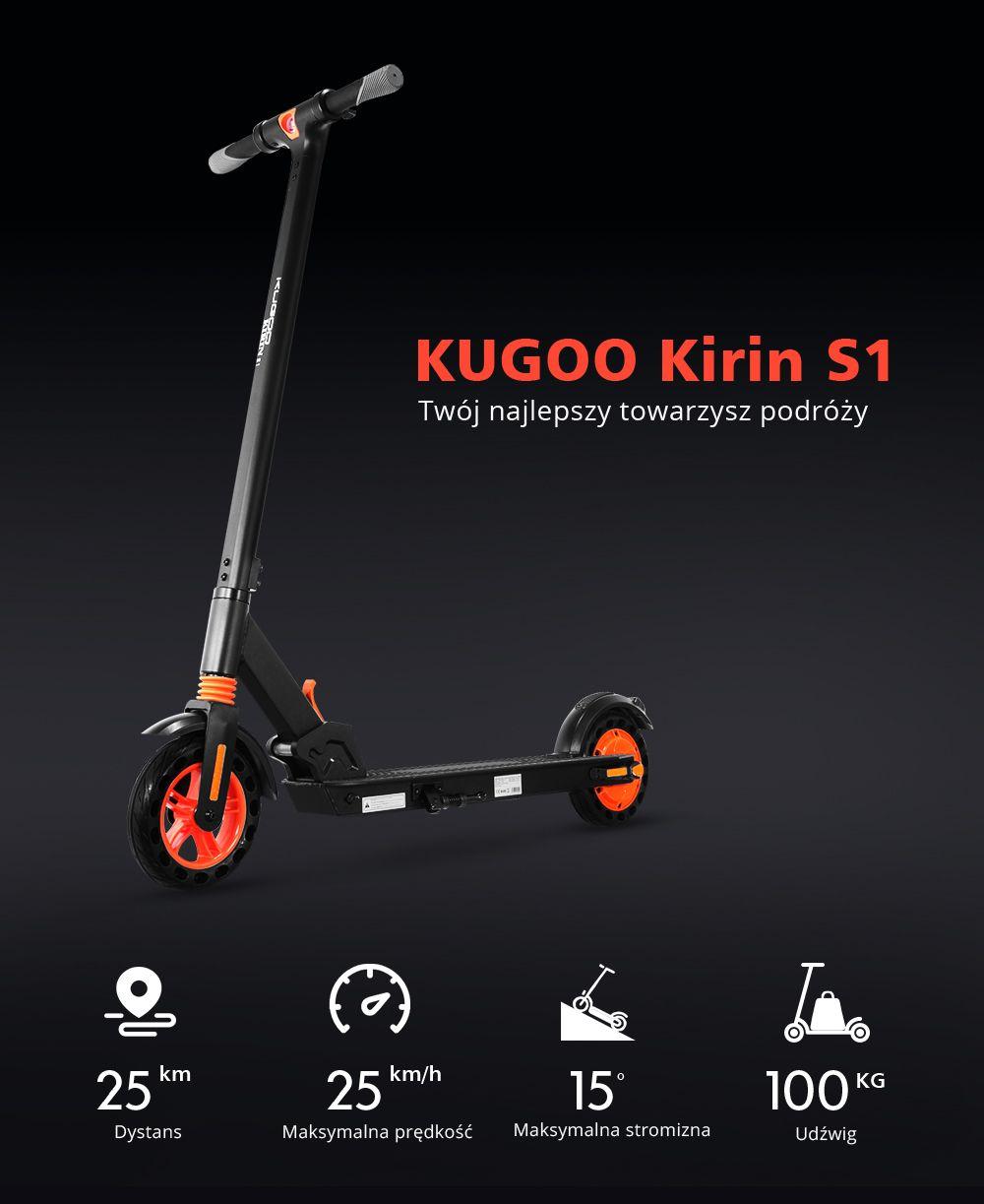 Hulajnoga elektryczna Kugoo kirin S1
