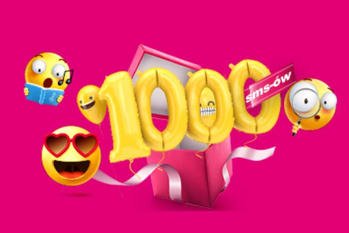 1000 SMS-ów na 3 dni, T-MOBILE NA KARTĘ i MIX . Aktywacja 17-19.07'20
