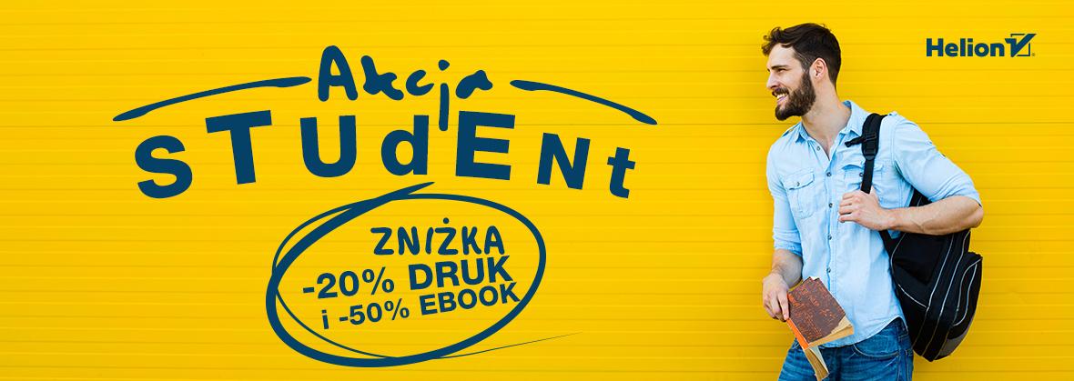 Akcja Student: Druk -20%, eBooki -50% @ Helion, OnePress