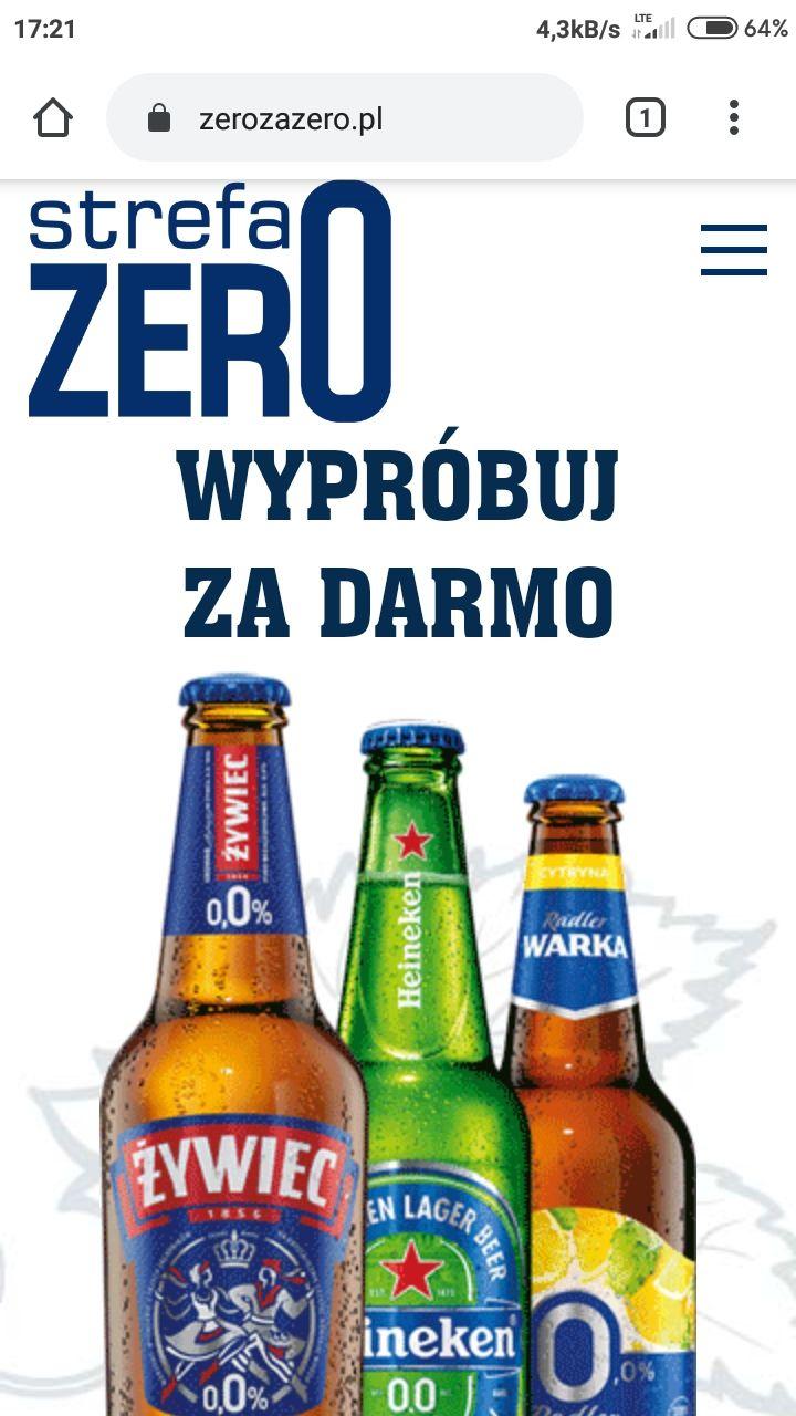 ZeroZaZero Piwa bezalkoholowe za darmo (zwrot do 8 zł) Carrefour