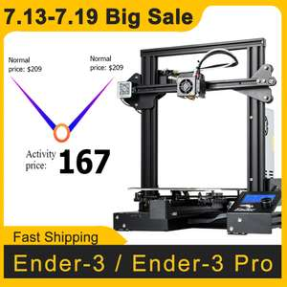 Creality Ender 3 Pro - drukarka 3D $167