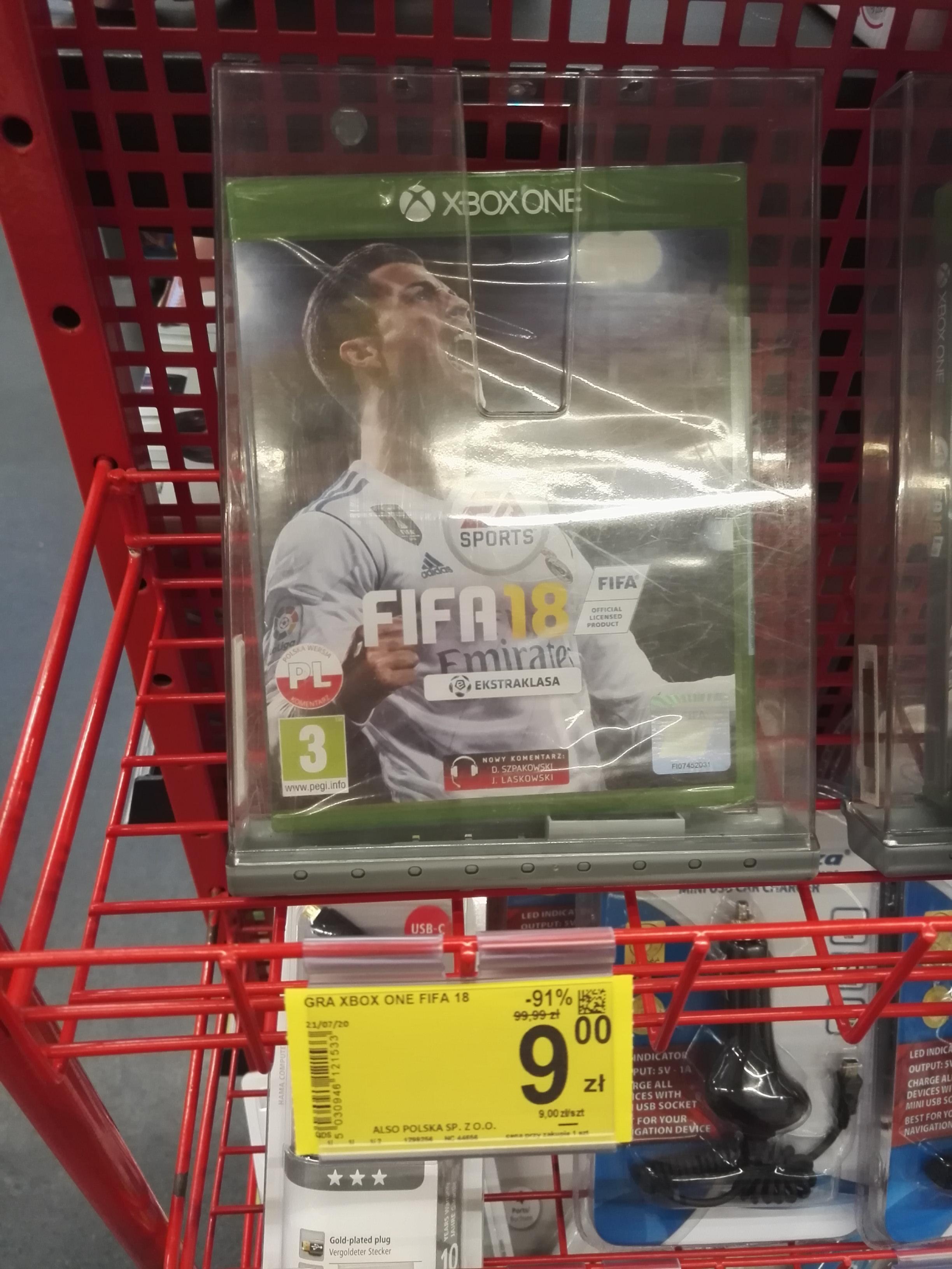 FIFA 18 xbox one - Carrefour Reduta Warszawa