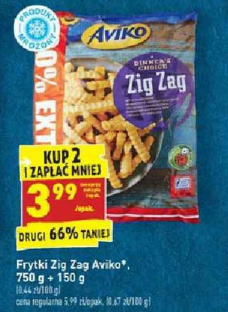 Frytki Aviko Zig Zag 900g. Kup 2 i zapłać mniej. Biedronka