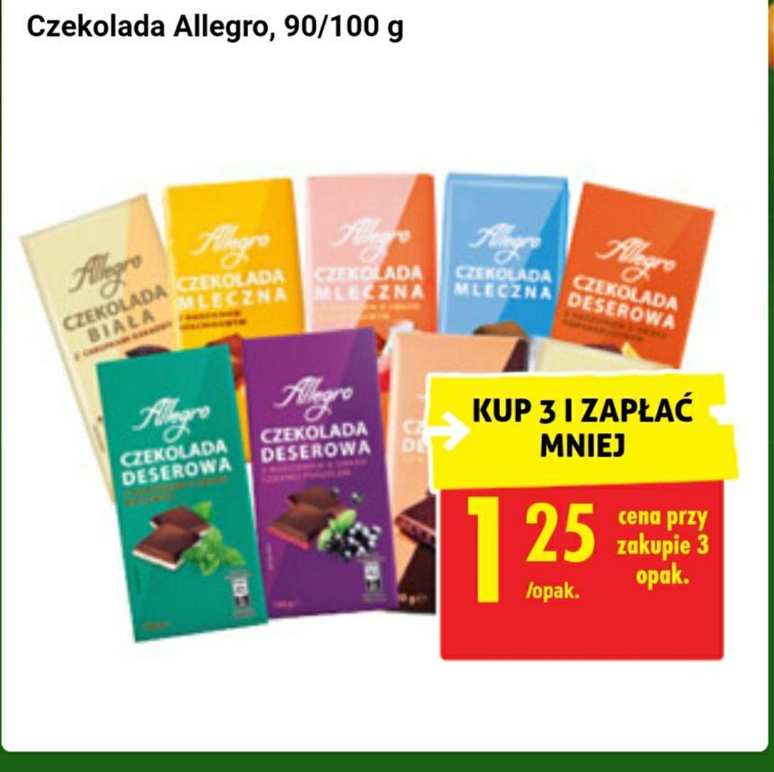 Czekolady allegro - Biedronka