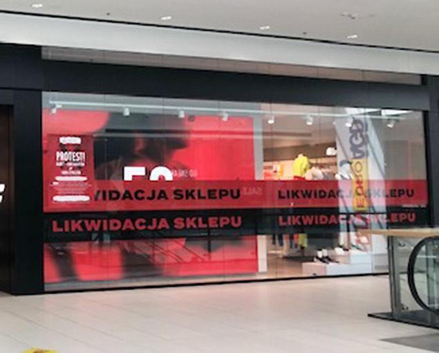 Likwidacja sklepu 4F w Galerii Północnej. Warszawa.
