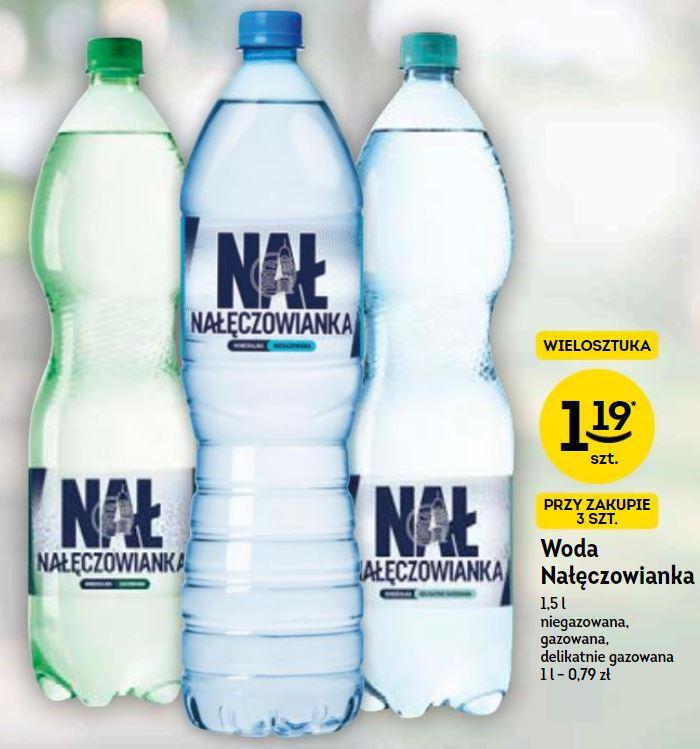Żabka - Woda Nałęczowianka 1,5 litra, wszystkie rodzaje, cena przy zakupie 3 szt.