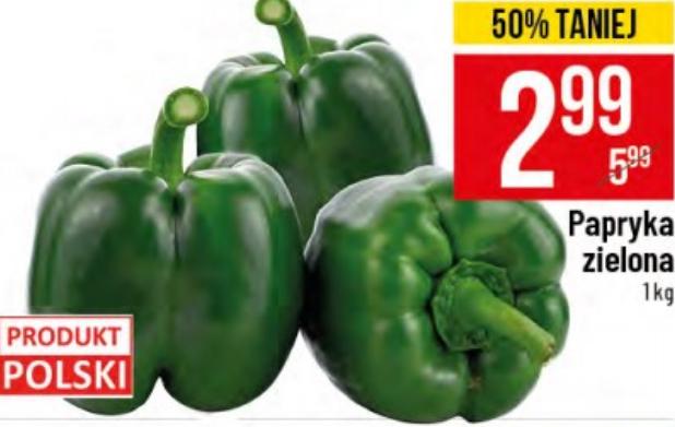 Papryka zielona 1kg. Polo Market