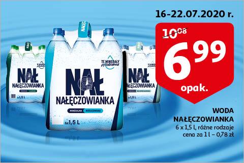 Woda Nałęczowianka różne rodzaje 6x 1,5l na auchan