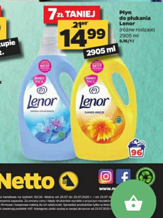 Płyn do płukania Lenor 2905ml(różne rodzaje). Bardzo fajna cena