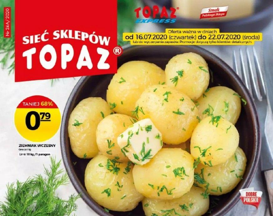Topaz ziemniaki wczesne -68% taniej max 10kg