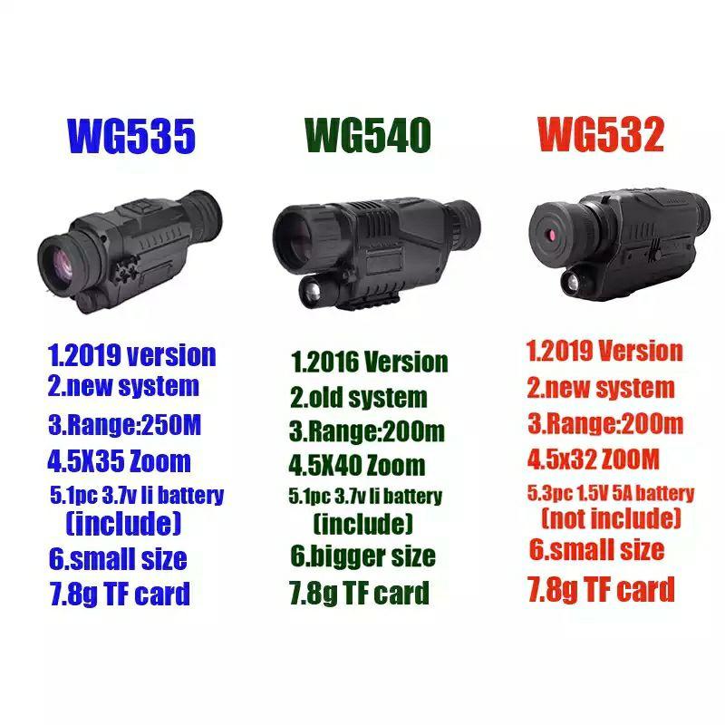 Monokular z opcją noktowizji i nagrywaniem WG535 black za 97 USD