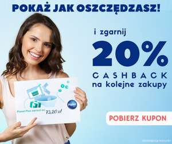 Planetplus 20 % cashback