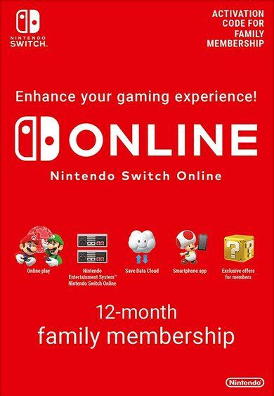 12 miesięcy Nintendo Online Family (8 kont - 15,43zł/os) @ Eneba