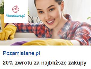 Pozamiatane.pl - 20% zwrotu za najbliższe zakupy z Visa Oferty