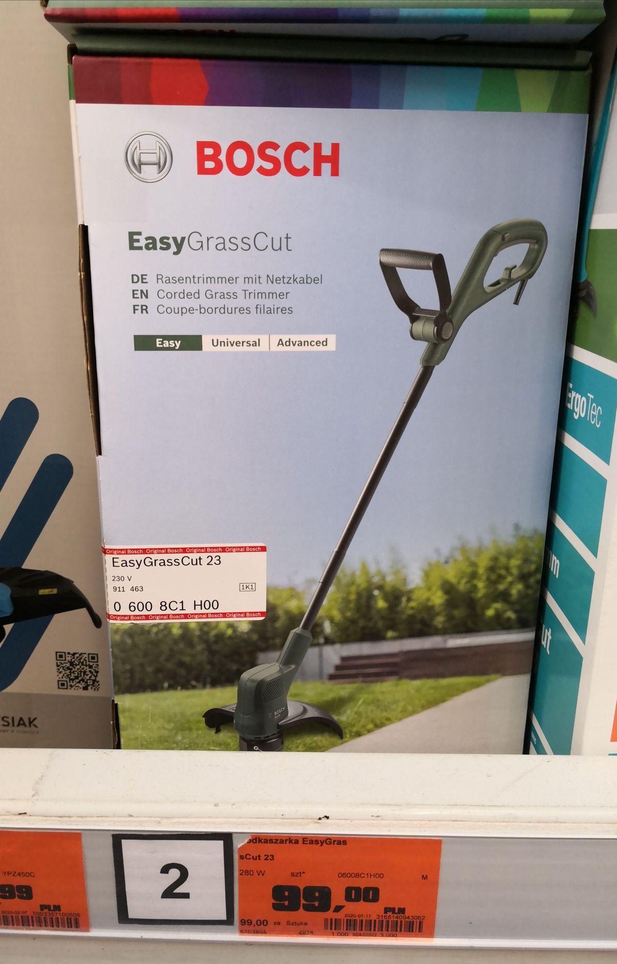 Podkaszarka BOSCH EasyGrassCut 23 OBI - wybrane markety