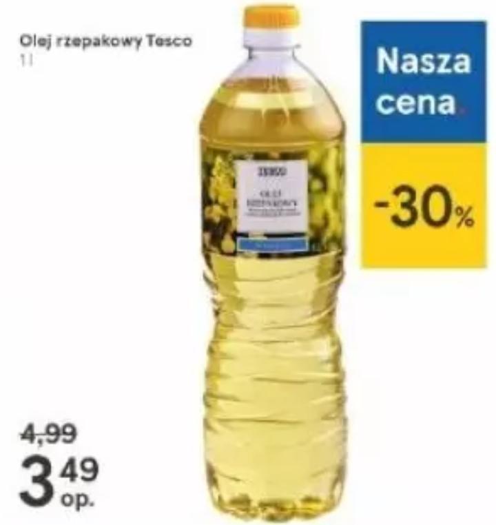 Olej rzepakowy 1L. Tesco