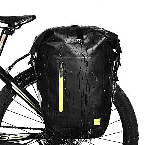 Torba na bagażnik rowerowy / Sakwa rowerowa, wodoszczelna, czarna 25l (37,36€)