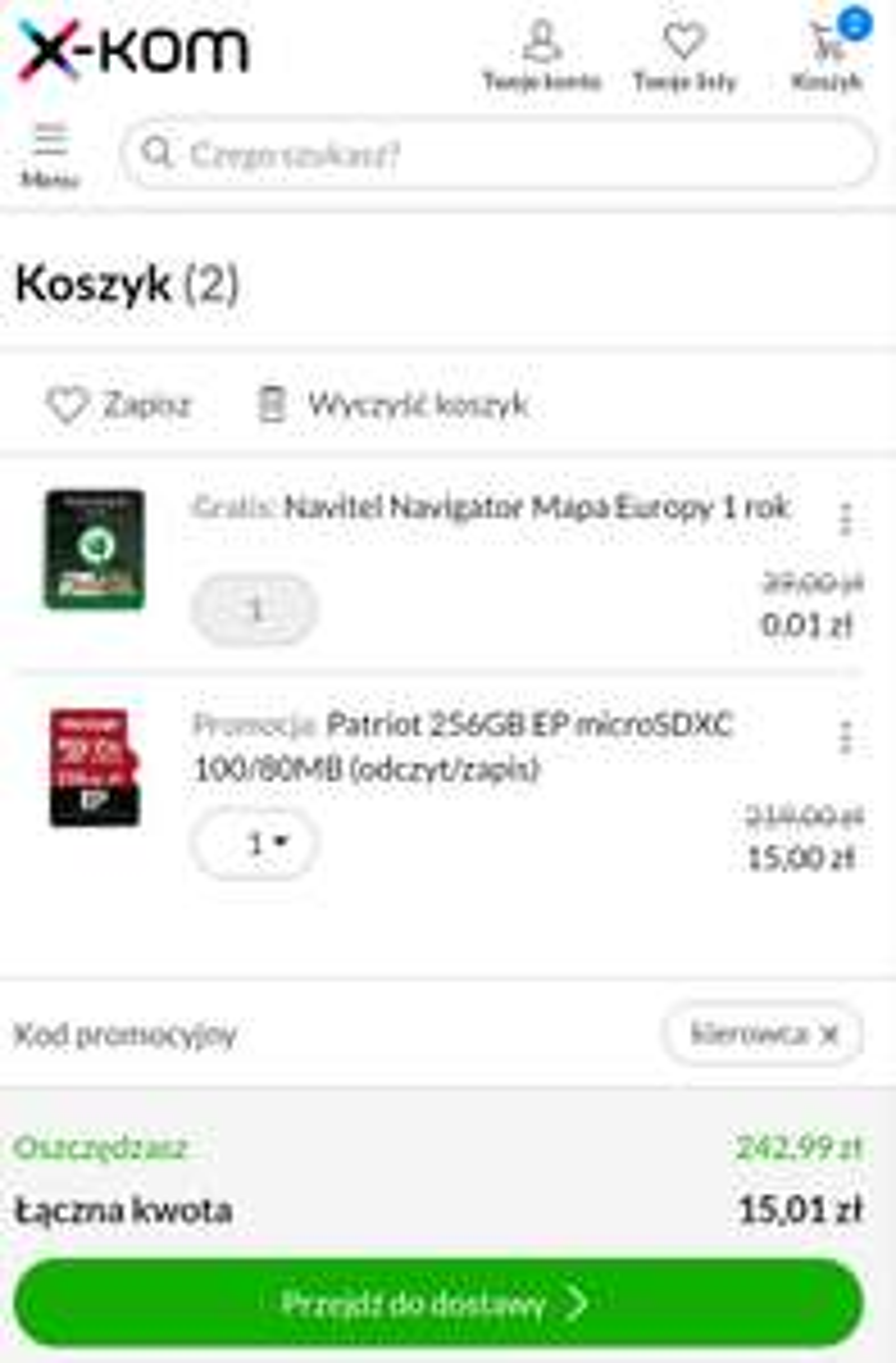 Karta Patriot 256GB EP microSDXC za 15zł - XKOM