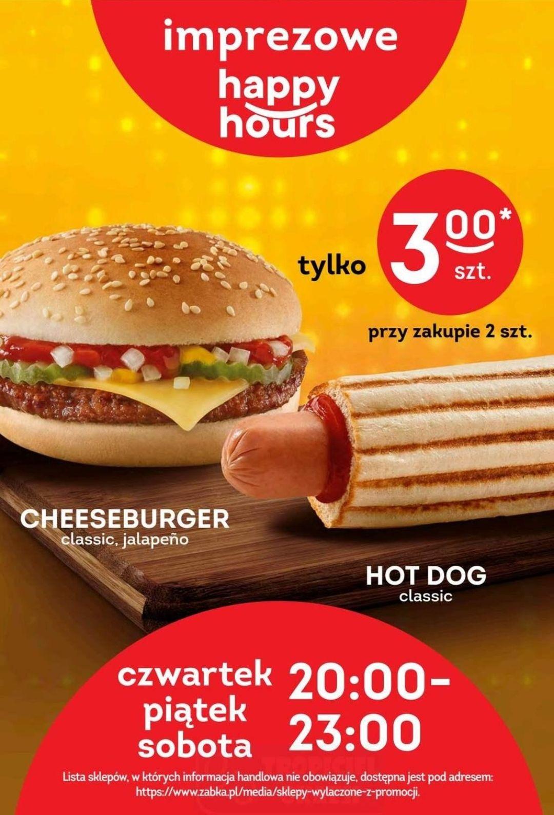 Hot-Dog i Cheeseburger za 3zł przy zakupie 2szt - Żabka