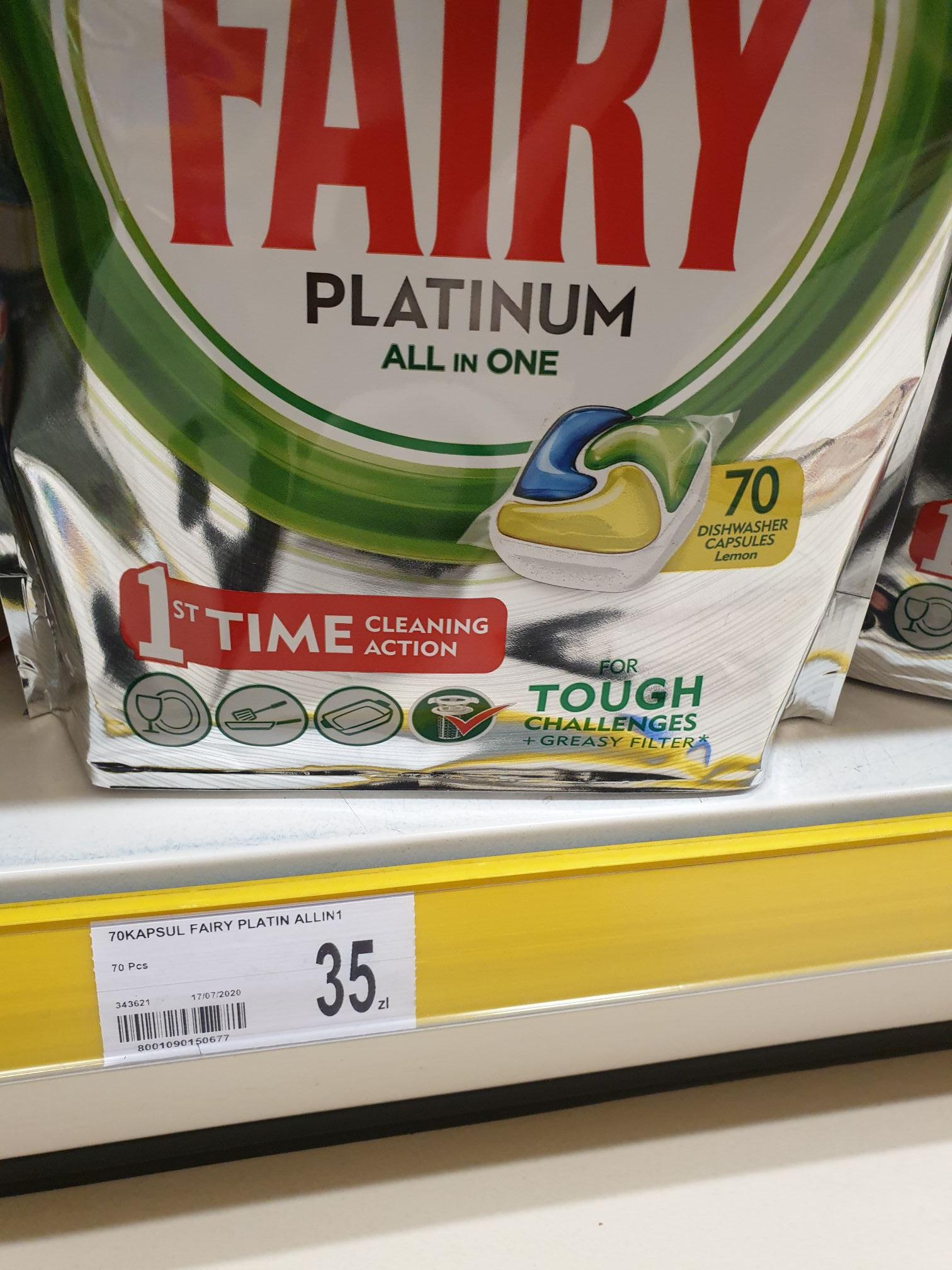 Dealz Kapsułki Fairy Platinum All In One 70 sztuk