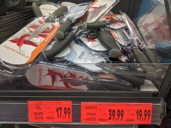 Nóż Fiskars Kaufland