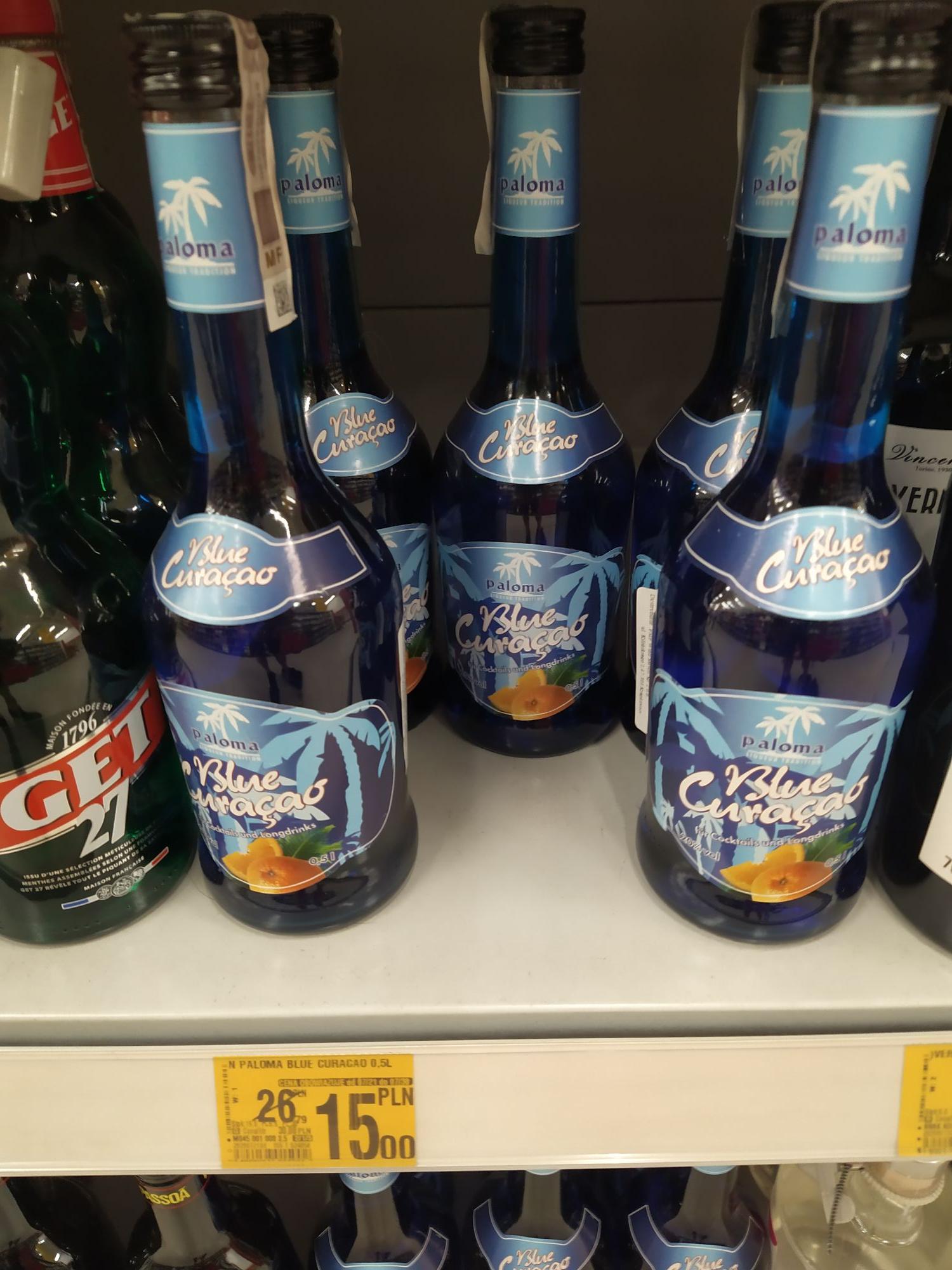 Blue curacao , wódka khortytsa , nalewka babuni - Promocja alkohole Dąbrowa Górnicza Auchan katowicka