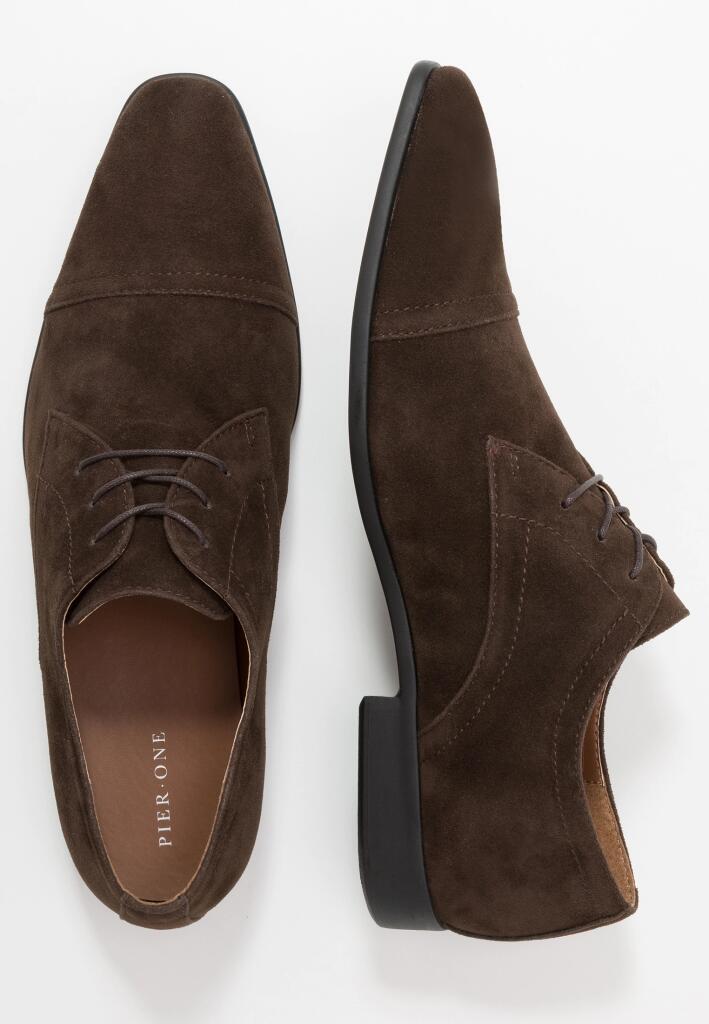Pier One Eleganckie buty - dark brown
