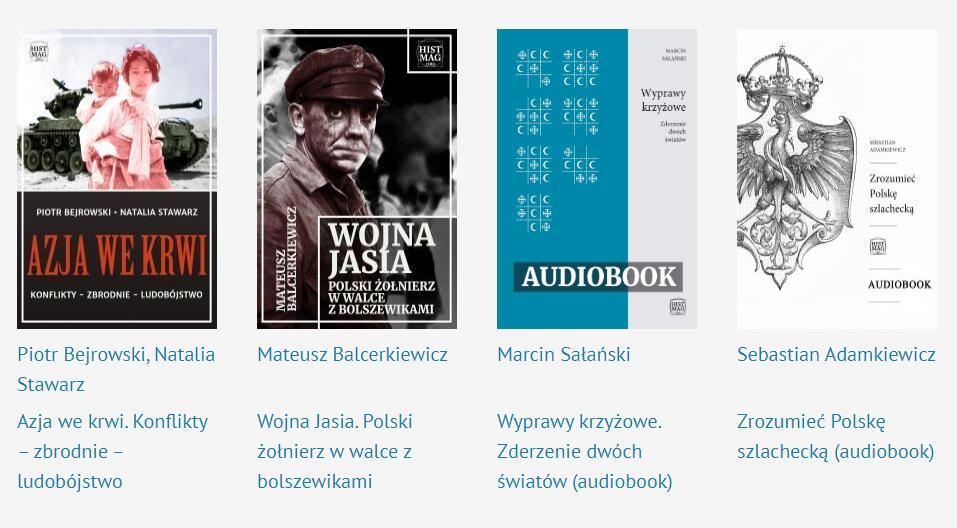 Promocja (-30%) ebooków historycznych, 10 dowolnych za 35 zł, wszystkie za 70 zł
