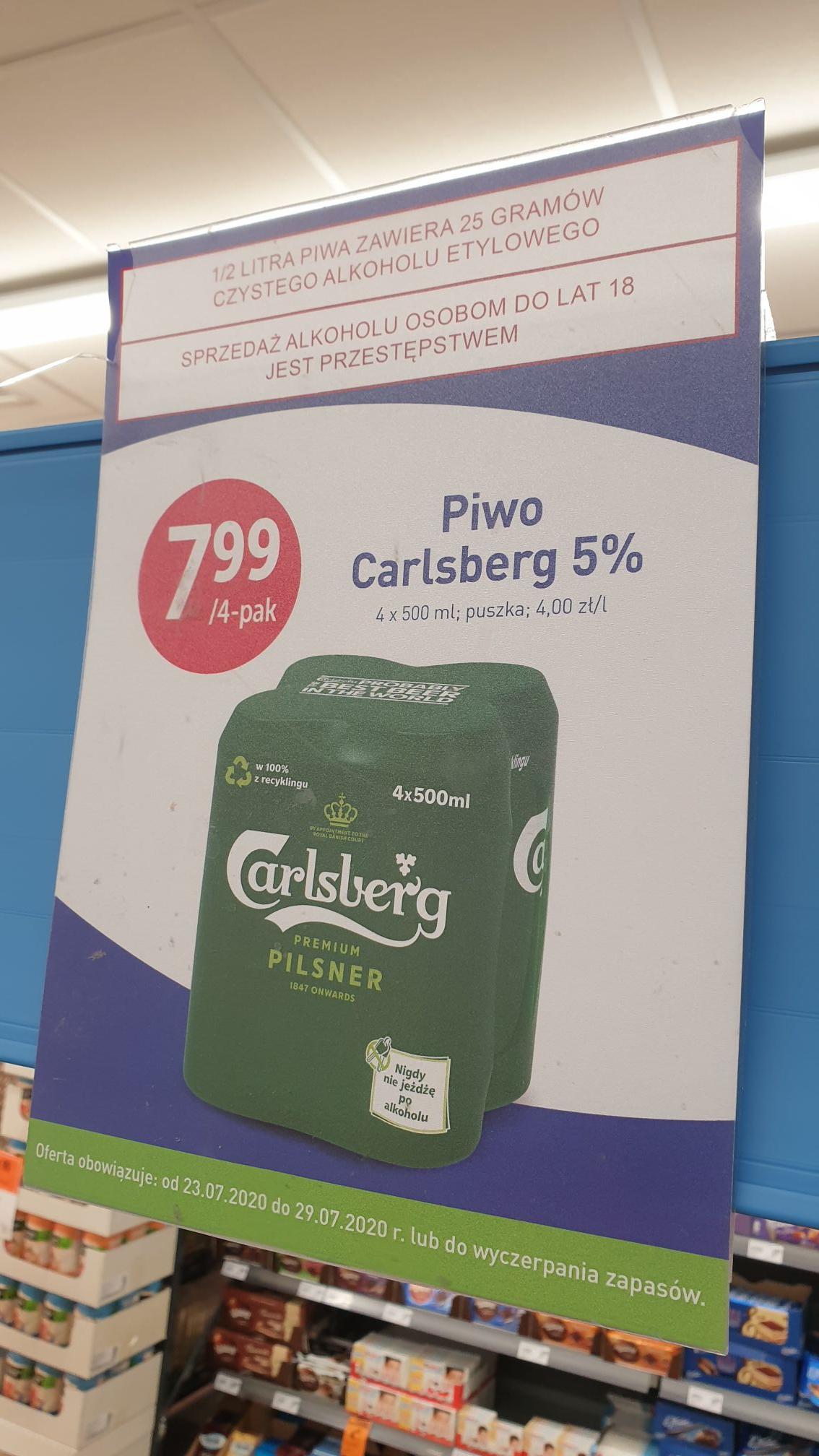 Carlsberg 4 pak Stokrotka Optima 1,99 sztuka