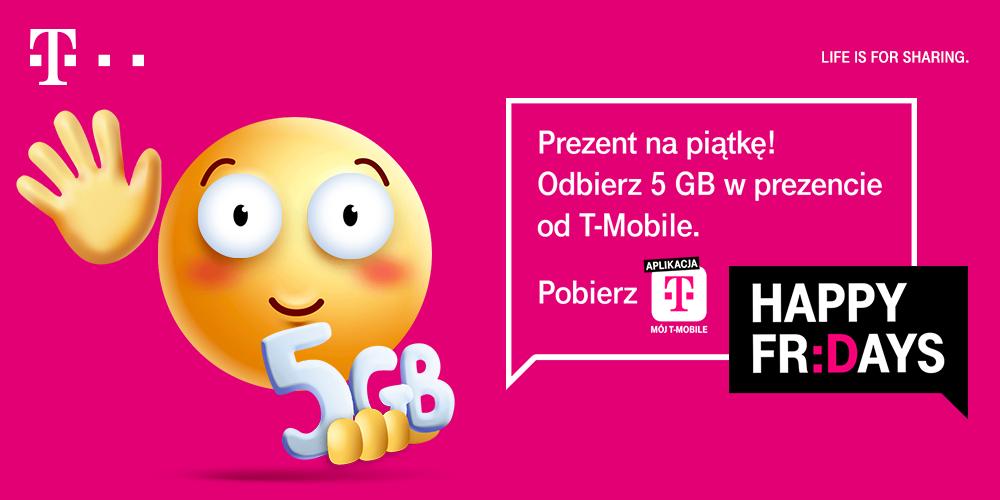 Happy Fridays: 5GB dla klientów T-Mobile : karta, mix, abo
