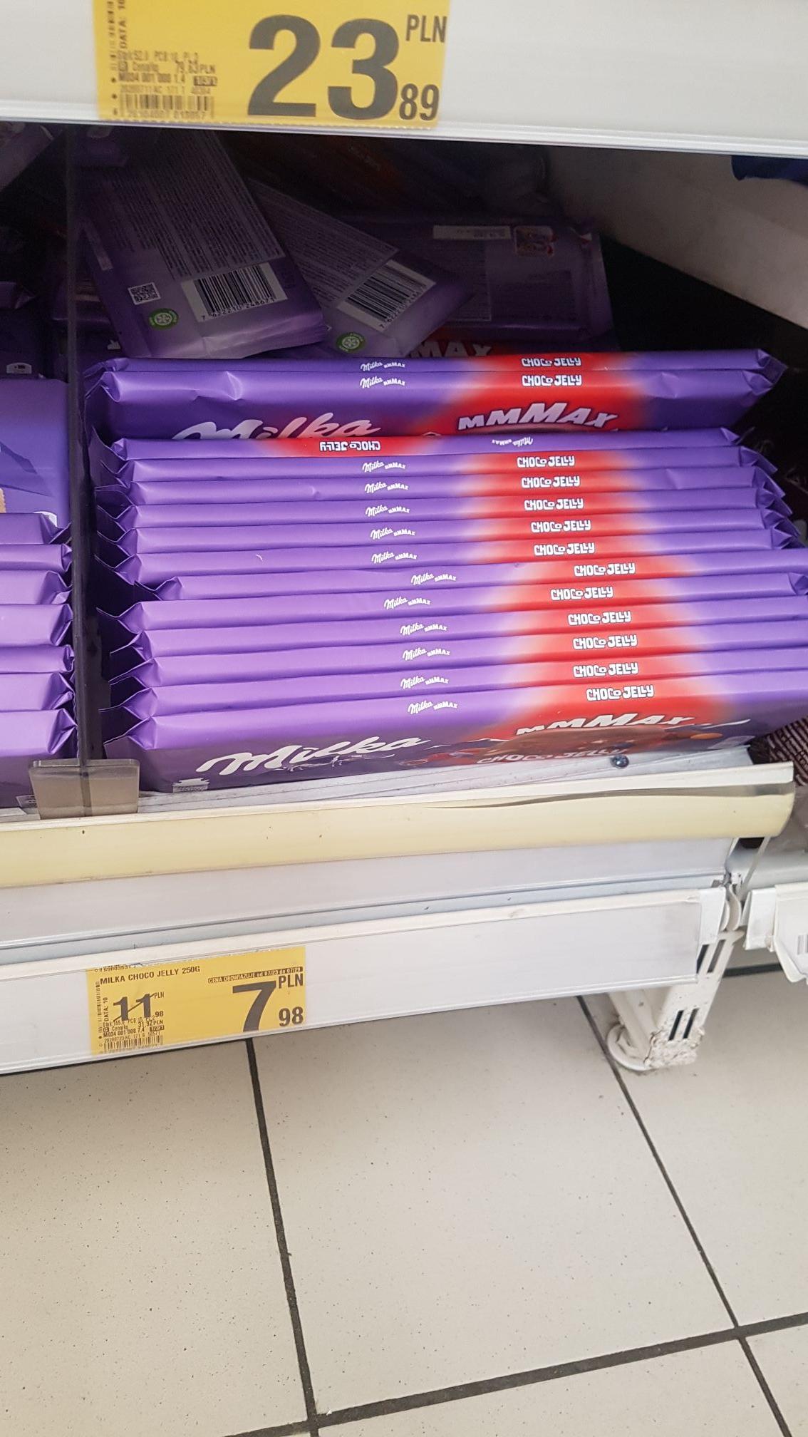 Milka Mmmax 276g Peanut and Caramel 276g, Choco Jelly 250g, Choco & Biscuit 300g @Auchan Kraków Bora Komorowskiego