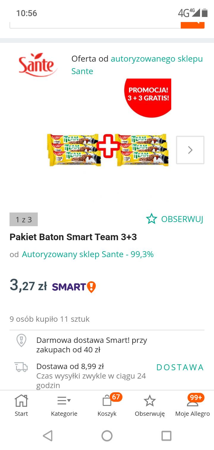 Baton Smart team 6szt za 3.27zl