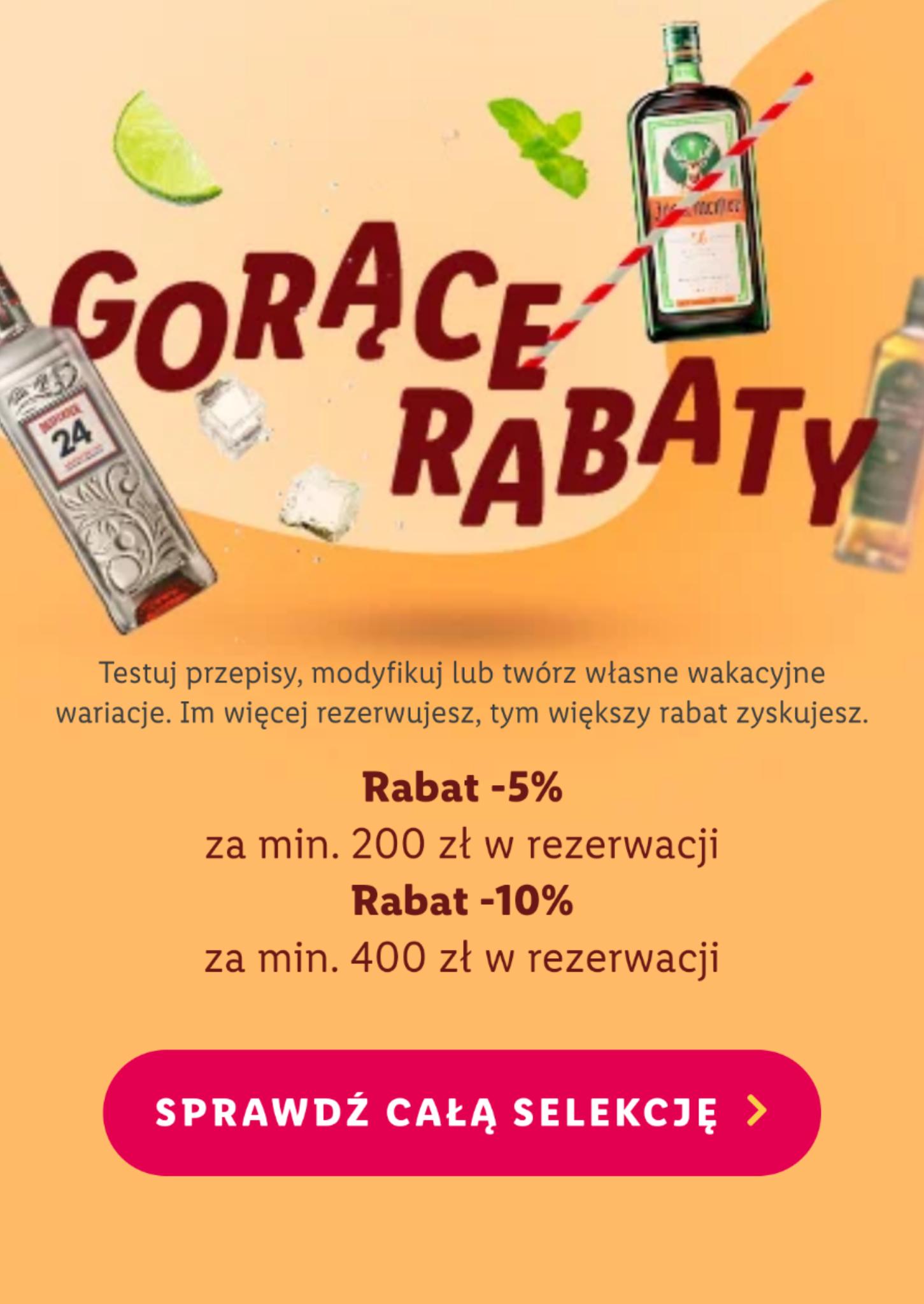 Smaki na lato / dodatkowy rabat na zamówienia powyżej 200/400 zł / Winnica Lidla