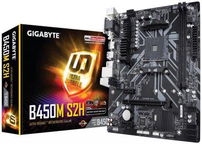 Zbiorcze promocje @ krs-sytem Gigabyte B450M S2H AM4 B450 2DDR 4 DVI/HDMI/VGA M.2 u-ATX najtaniej z chłodzoną sekcją i nvme