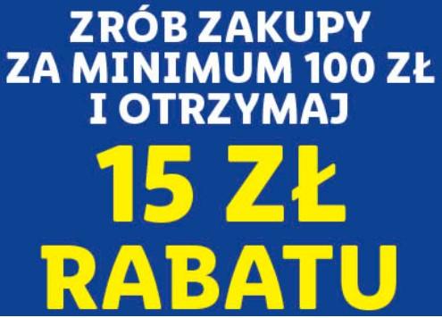 Lidl Plus 15 zł rabatu (MWZ 100 zł) kupon w aplikacji