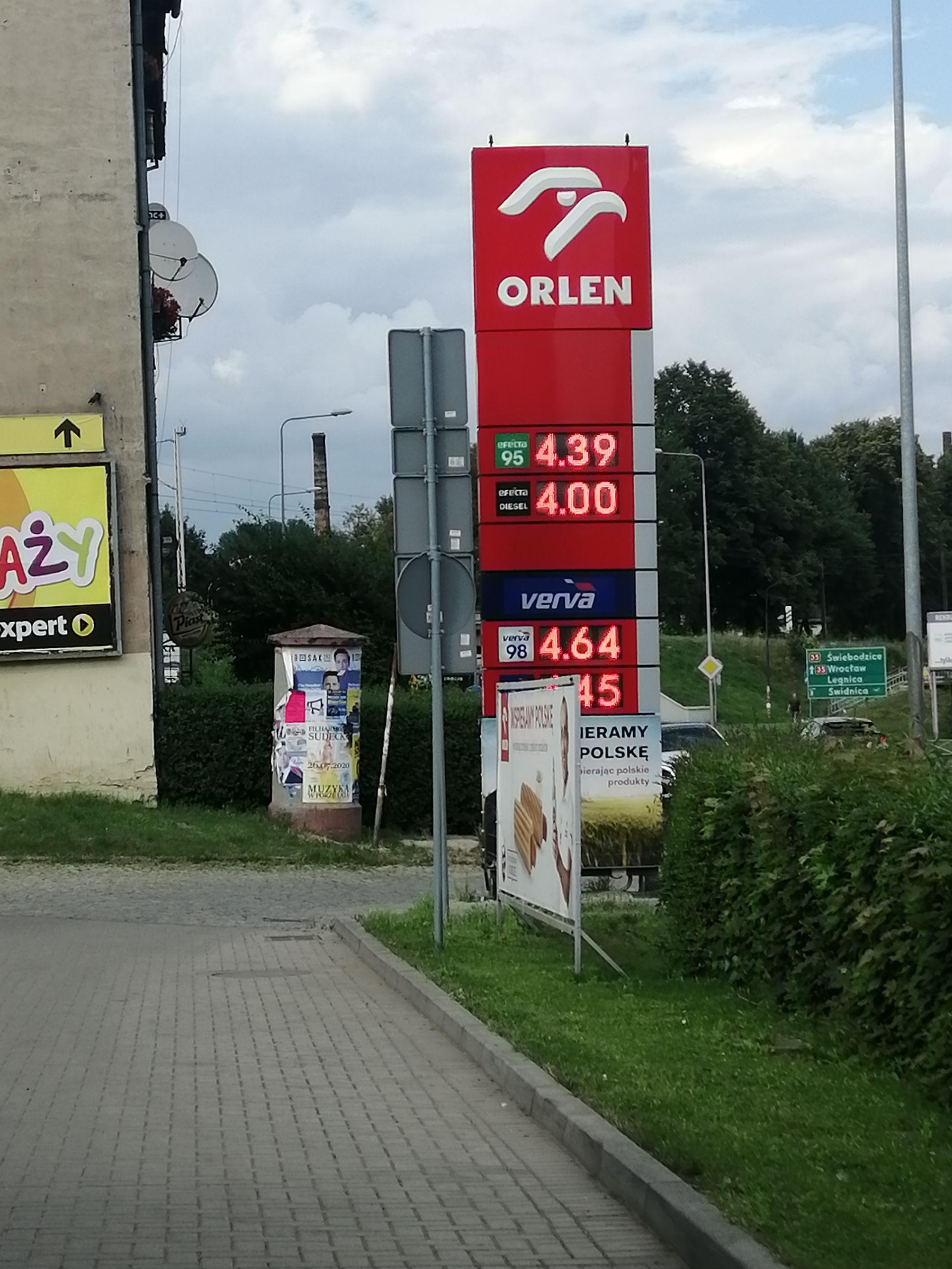 Paliwo Diesel Orlen Wałbrzych