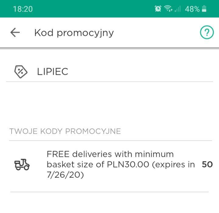 """Bezpłatna dostawa z McDonald's w Glovo w ten weekend z kodem """"LIPIEC"""". MWZ 30 zł."""