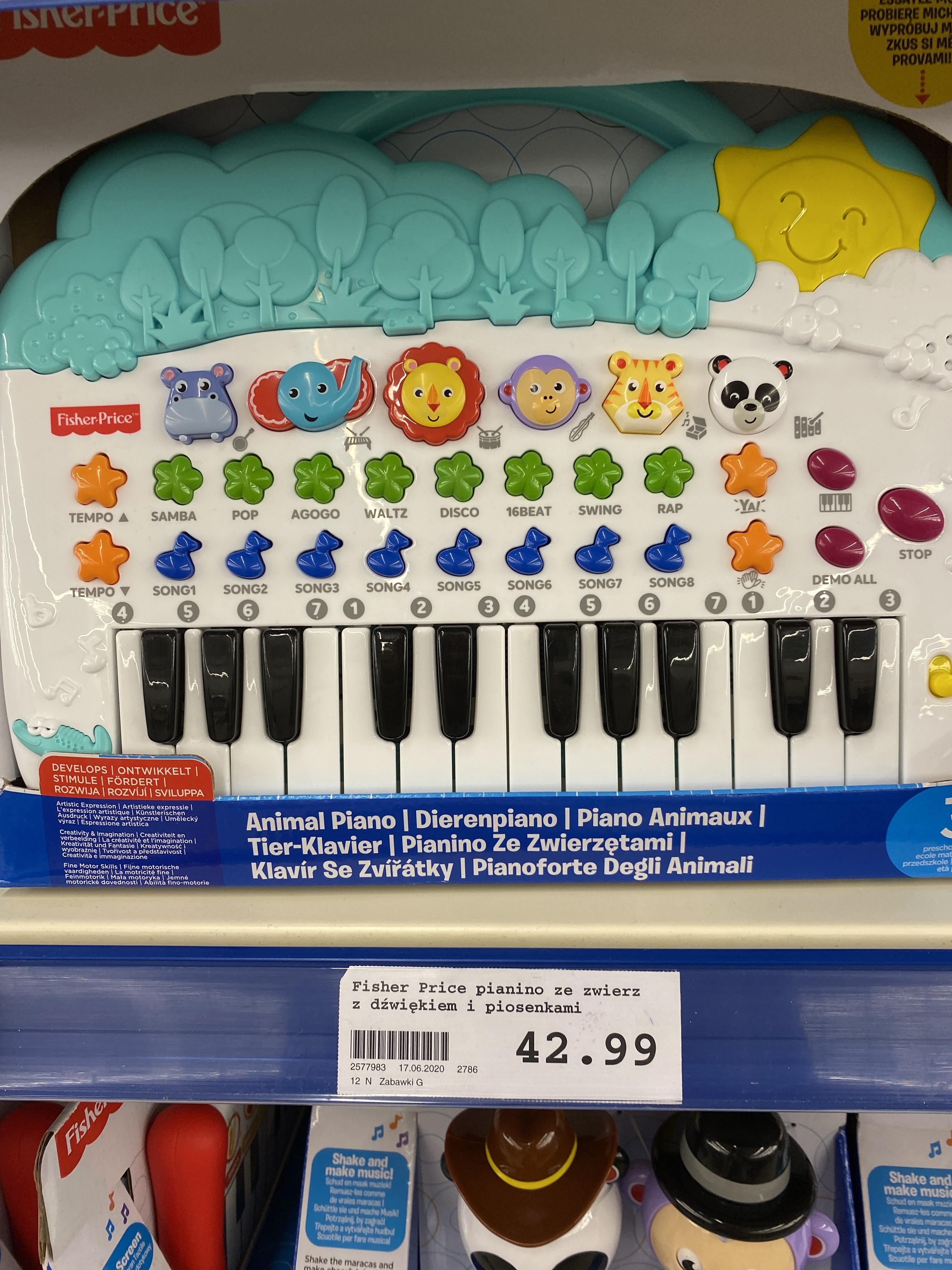Fisher-price pianino ze zwierzętami