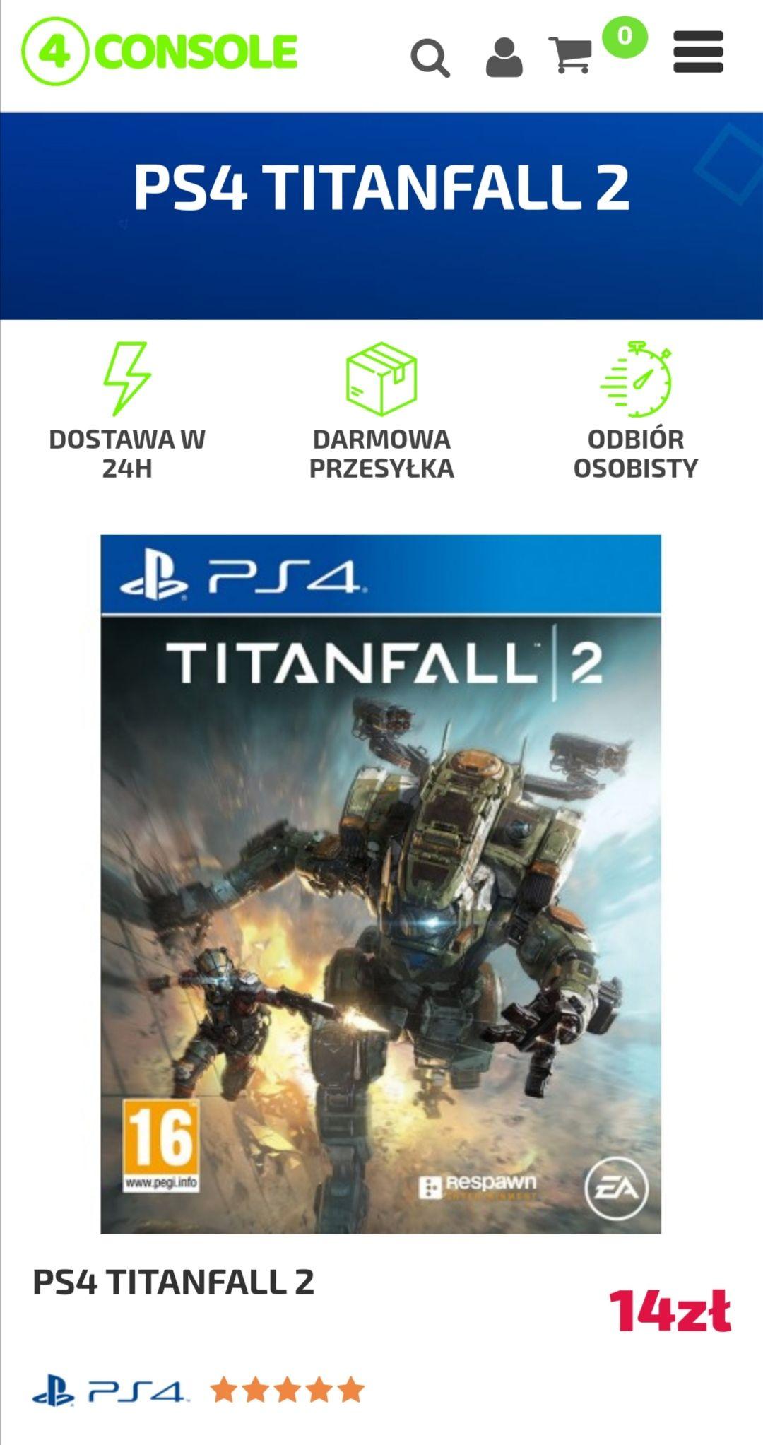 TITANFALL 2 PS4 PlayStation 4 Dubbing PL