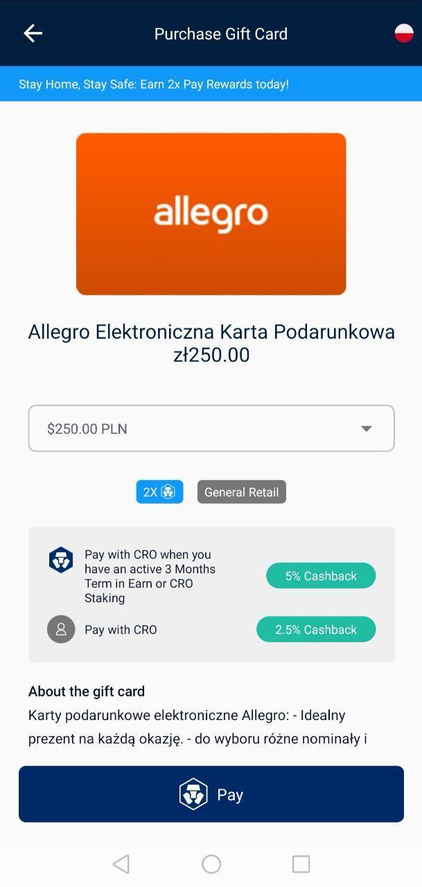 Cashback do 2% lub 5% za karty podarunkowe Allegro, Empik, Morele, Razer Gold i Ticket Master
