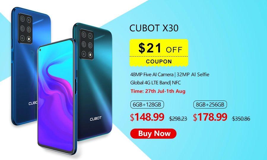 Cubot X30 Helio P60 NFC 4200mah android 10 6/128gb za 564,96 lub 8/256gb za 680zł